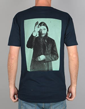 Theories Rasputin T-Shirt - Navy/Sea Green
