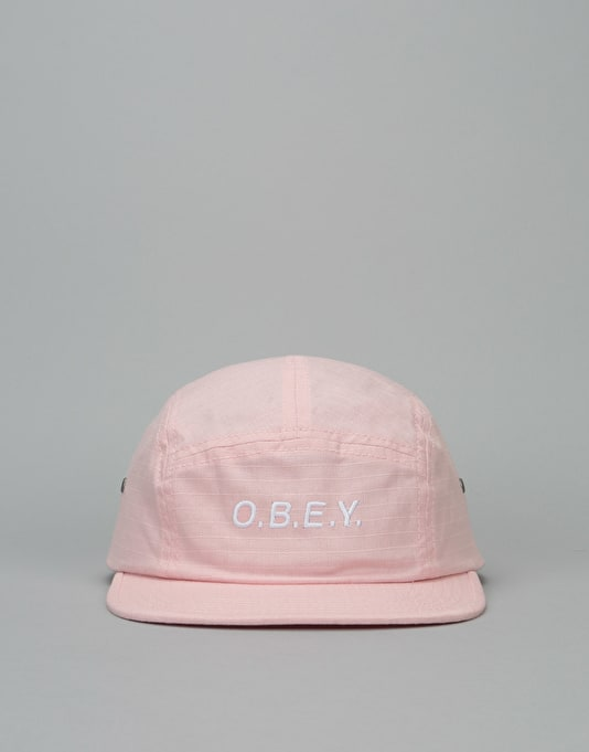Obey Contorted 5 Panel Cap - Rose