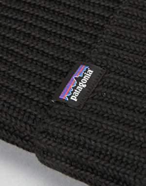 Patagonia Fishermans Rolled Beanie - Black