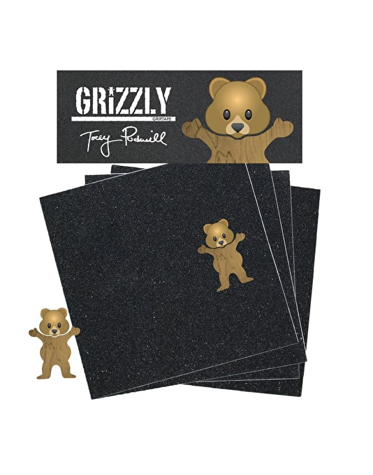 """Grizzly Pudwill Bear Die Cut Bear Pro 9"""" Grip Tape Sheet"""