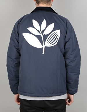 Magenta Plant Windbreaker Jacket - Navy/White