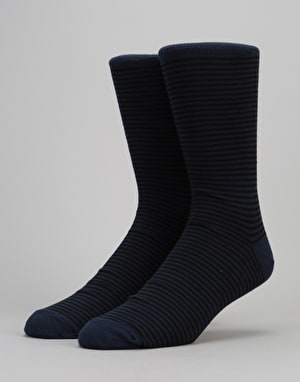 Route One Thin Stripe Socks - Black/Navy
