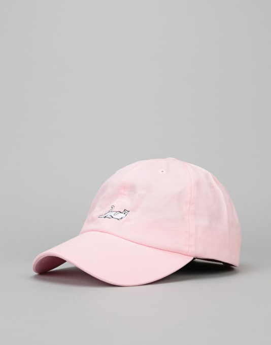 fe6c7cb4537 RIPNDIP Castanza Dad Cap - Light Pink