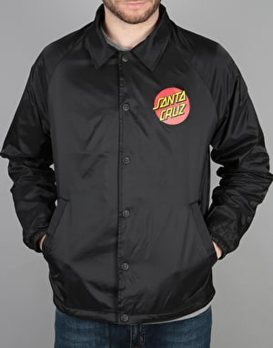 Santa Cruz Classic Dot Coach Jacket - Black