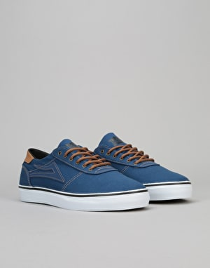 Lakai Manchester Lean Skate Shoes - Navy Canvas
