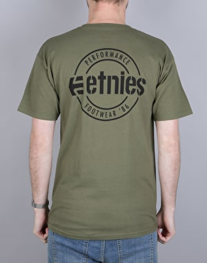 Etnies New Park Lock Up T-Shirt - Olive/Black