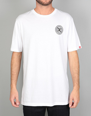 DC Skate Circle Texture T-Shirt - Snow White