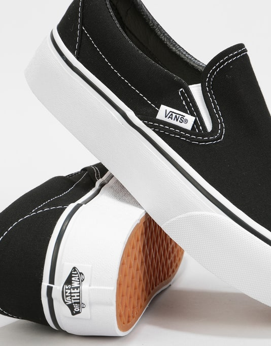 Vans Classic Slip-On Platform Womens Trainers - Black