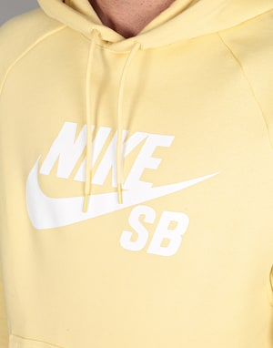 Nike SB Icon Pullover Hoodie - Lemon Wash/White