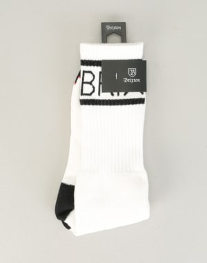 Brixton Tanner Socks - White/Black