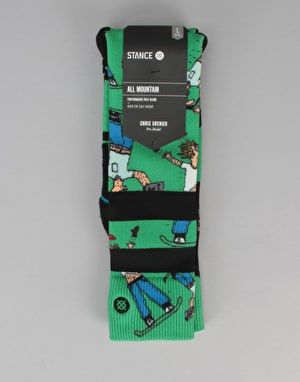 Stance Dad Cam All Mountain Snowboard Socks - Green