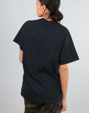 Thrasher Womens Flame Logo Oversized T-Shirt - Black