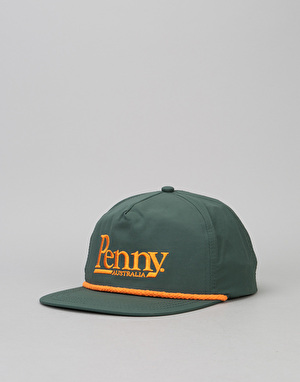 Penny Skateboards Snapback Cap - Forest Green/Orange