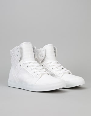 Supra Skytop D Skate Shoes - White/White