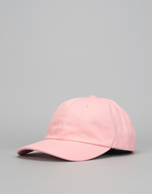 Route One Embroidered Logo Dad Cap - Pastel Pink
