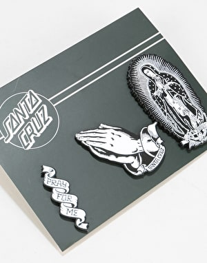 Santa Cruz Guadalupe Pin Set - Black