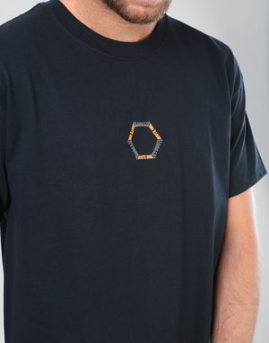 Route One Vortex T-Shirt - Black/Orange