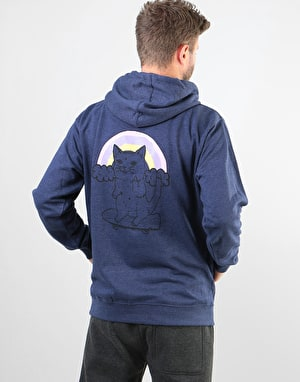 Original Cat Finger Pullover Hoodie - Navy Marl