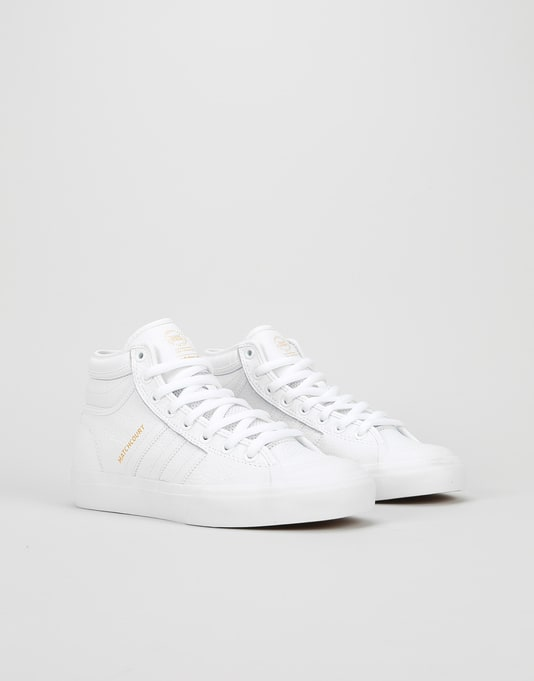 Adidas Matchcourt High RX2 Womens Trainers - White/White/Gold Metallic