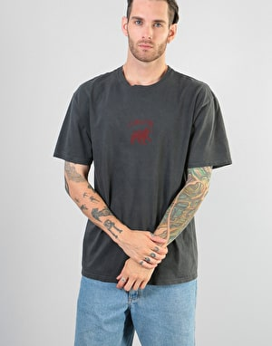 Stüssy Stock Lion Pigment Dyed T-Shirt - Black