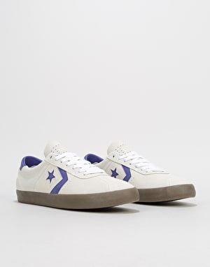 Converse Breakpoint Pro Ox Skate Shoes - White/Court Purple/Gum