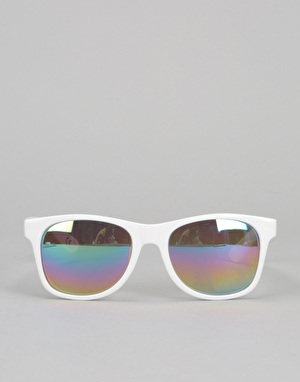 Vans Spicoli 4 Sunglasses - White/Rainbow