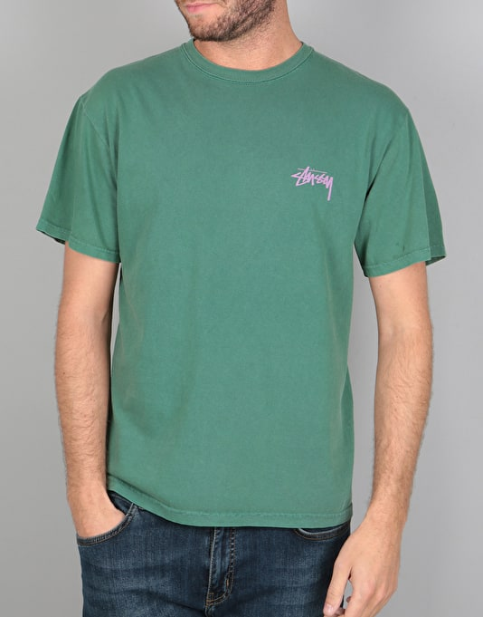 Stüssy Warrior Pigment Dyed T-Shirt - Green