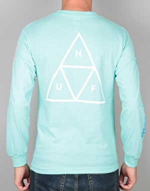 HUF Multi Triple Triangle L/S T-Shirt - Mint