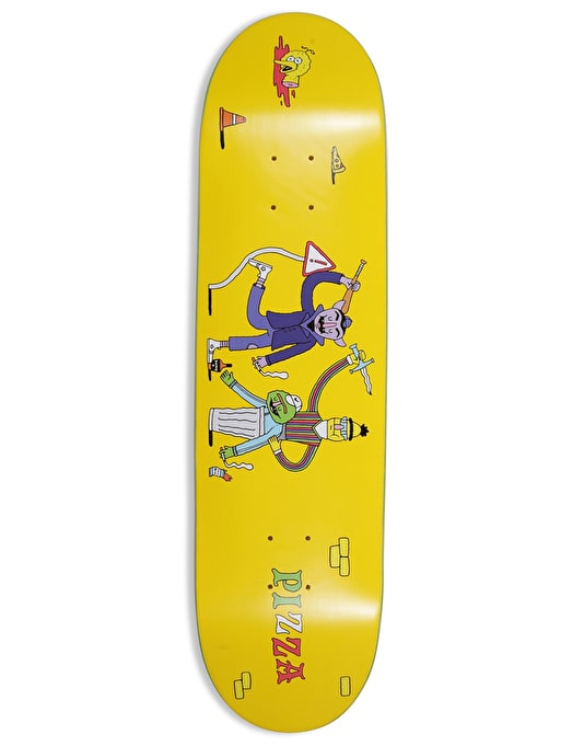 Pizza Ride Or Die Skateboard Deck - 8""