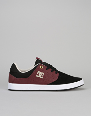 DC Plaza TC S Skate Shoes - Black/Oxblood