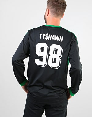 Adidas Tyshawn L/S GK Jersey - Black/Green