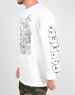 The Hundreds x Garfield Messy L/S T-Shirt - White