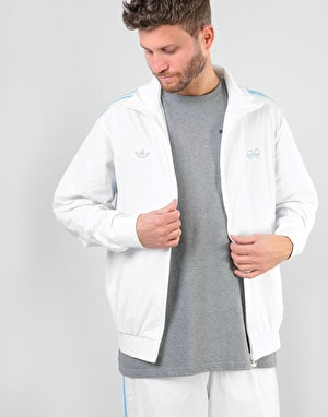 Adidas x Krooked Track Top - White/Clear Blue