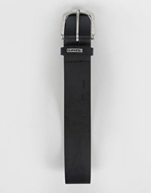 Levis Lev 8 Leather Belt - Regular Black
