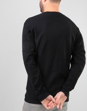 Stüssy Old Stock L/S T-Shirt - Black