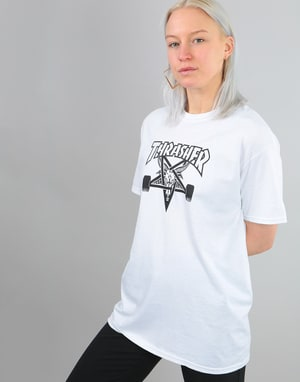 Thrasher Womens Skategoat Oversized T-Shirt - White