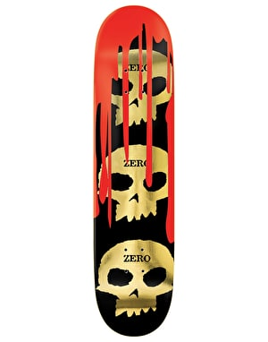 Zero Burman 3 Skull Blood Skateboard Deck - 8.5