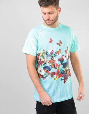 HUF Butterfly Effect Tie Dye T-Shirt - Blue