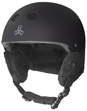 Triple 8 Audio 2019 Snowboard Helmet - Black Rubber