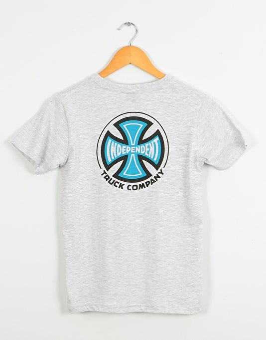 Independent 2 Colour Truck Co. Boys T-Shirt - Athletic Heather