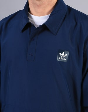 Adidas Pullover Coach Jacket - Night Indigo/Collegiate Green