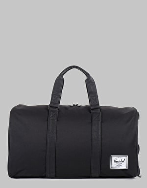 Herschel Supply Co. Novel Duffel Bag - Black/Black Leather