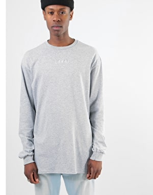 Lakai Embroidered L/S T-Shirt - Ash Heather