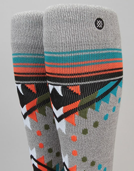 Stance Whitmore All Mountain Snowboard Socks - Grey Heather