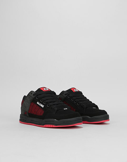 Globe Tilt Boys Skate Shoes - Black/Red/Knit