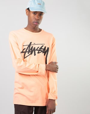 Stüssy Old Stock L/S T-Shirt - Salmon