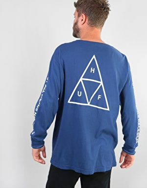 HUF Triple Triangle L/S T-Shirt - Twilight Blue