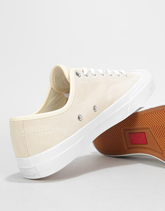 Converse Jack Purcell Pro Ox Skate Shoes - Natural/White/White