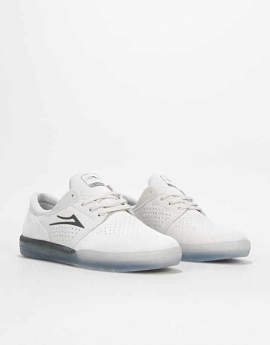 Lakai Fremont Skate Shoes - White Suede