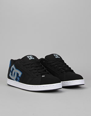 DC Net Skate Shoes - Black/Armor/Royal